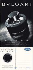 BVLGARI BLACK FRAGRANCE UNUSED ADVERTISING COLOUR POSTCARD