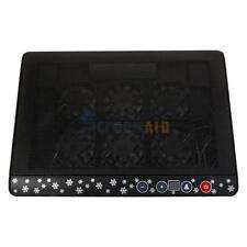 """10""""-17"""" Laptop Blue LED 6 Fan 2 USB Cooling Cooler Adjustable Stand Pad"""