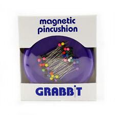 GRABBIT Purple Magnetic Pincushion With Ball Head Pins