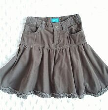 The childrens place brown velvet flare skirt sz 5