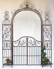 Arc rose avec porte porte 120853 en métal fer forgé 265x190 cm