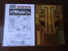 POCHER 1/8 Ferrari Testarossa Spider Window Frames + Side Strakes Transkit AMG