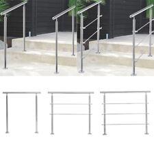 80/100/120CM Stainless Steel Banister Stair Handrail Balustrade Outdoor Garden