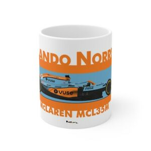 2021 Lando Norris Gulf McLaren MCL35M Monaco F1 11oz Mug - Scuderia GP
