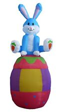 6 Foot Easter Inflatable Yard Indoor Outdoor Decoration Rabbit Bunny Egg Blowup