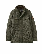 Joules Boys Dark Pine Green Stafford Quilted School Coat Jacket Warm Aw17 7-8 Years