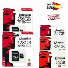 TARJETAS DE MEMORIA MICRO SD 16GB 32GB 64GB 128GB 256 GB KINGSTON CLASE 10