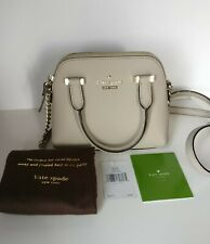 New Kate Spade New York Cedar Street Mini Maise Beige Clock Tower Handbag Purse