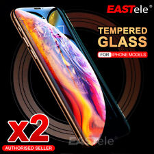 2x iPhone 12 11 Pro Max XS Max XR SE Tempered Glass Screen Protector For Apple