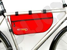 Bicycle Bike Cycle Cycling FRAME BAG Pouch Case Pannier Go!Travel - NIB - Red