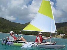 KAYAK SAIL KIT - fits any kayak, no drilling, big sail, W/steering, tacks upwind