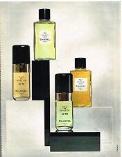 Publicité Advertising 1972 Les Eaux de Toilette Chanel