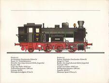 VINTAGE RAILWAY GERMAN TRAIN ENGINES PRINT ~ EDEWECHT ~