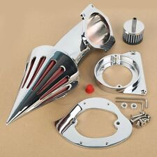 Aluminum Chrome Spike Air Cleaner Kit For Kawasaki Vulcan 800 / VN800A 1995 -UP