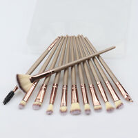 12PCS Cosmetic Makeup Brushes Set Foundation Blusher Eye shadow Lip Brush Tool