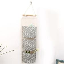 Household Storage Bag Wall  Hanging Door Bedroom Organizer 3 Pocket