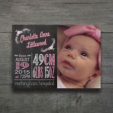 Baby Kids Birth Print Personalised Nursery Art Newborn Gift Kids Prints