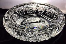ABP American Brilliant Period Wheel Cut Crystal Glass Ashtray Bowl Dish Antique