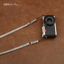 Grey Leather Cam-in Camera Strap w/ Ring & String loop connections CAM2282 UK
