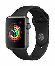 Reloj de Apple serie 3 42mm GPS-Gris espacial-Banda Negra Sport