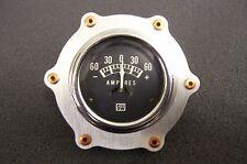 "Gauge Aviator Bezel Bomber Dash Copper Rivet Panel Hot Rod Rat Aluminum 2 1/16"""