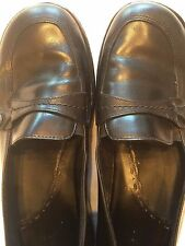 CLARKS Loafer Leather Shoe Womens Size 8.5 M Black Slip On Casual Career