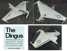 "Model Airplane Plans (UC): Dingus 31"" Delta-Wing Carrier for .40 by Netzeband"