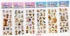 Animation stereoscopic 3D bubble stickers cat/dog toys 6pcs/lot kids party gift