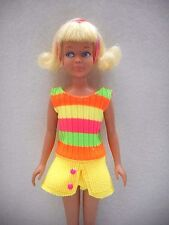 """OOAK for Vintage Skipper 9"""" doll swim suit with shorts and skirt Fluff style"""