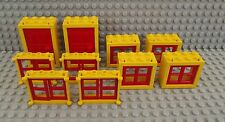 Lego Red & Yellow Windows 2 Doors 10 Windows Ideal House Office Buidling Set 02