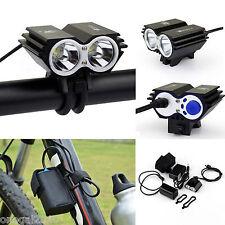 Luz Frontal Delantera CREE XML U2 5000 Lumen de Bicicleta Bateria de 18650 4076