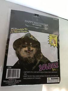 """HAPPY HALLOWEEN PET COSTUME, """"SOLDIER"""" ADJUSTABLE FIT CAT TOO"""