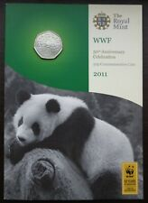 More details for 2011 royal mint 50p coin pack wwf