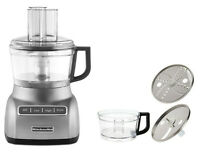 KitchenAid KFP0711CU 7-Cup Exact Slice Food Processor Contour Silver