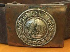 Original Authentic Wwi Gott Mitt Uns Buckle and Leather Belt Buy It Now