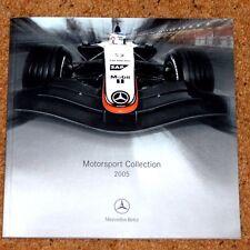 2005 Mercedes Benz Motorsport Raccolta ACCESSORI BROCHURE-F1 DTM auto modello
