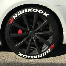 Permanent Tire Lettering Stickers Hankook 1.25' 15'16'17'18'19'20 (10 DECAL KİT)
