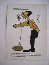 Rare WWII Smits (Dutch Artist)  Nazi Propaganda Postcard w Goebbels Caricature *