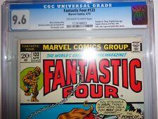 CGC 9.6 Fantastic Four 133 Marvel Stan Lee Huk Luke Cage Thing Human Torch FF 4