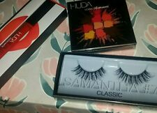 Huda Beauty Bundle Coral Obsessions, Alluring Matte Lipstick, Samantha #7 Lashes