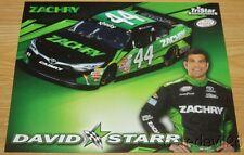 2016 David Starr Zachry Toyota Camry NASCAR Xfinity postcard