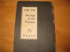 Pirkei Avoth Chief Rabbi Hertz English Jewish book 1945