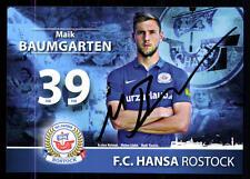 Maik Baumgarten Autogrammkarte Hansa Rostock 2015-16 Original Signiert+A 114649