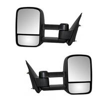 For 99-06 Chevy Silverado GMC Sierra Towing Manual Telescoping Mirrors Side Tow