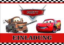 6 Disney Pixar Cars Kindergeburtstag Einladungskarten + 6 Umschläge E5 ( W )