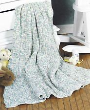 1126 BABY RAINBOW BLANKET THROW AFGHAN KNITTING PATTERN