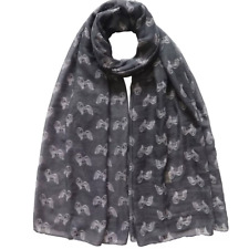 More details for havanese dog print scarf ladies new to range lovely gift available in 2 colours