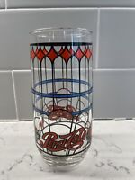 "Vintage 6"" Pepsi Cola Drinking Tumbler Cup Tiffany Stained Glass Design 1970's"