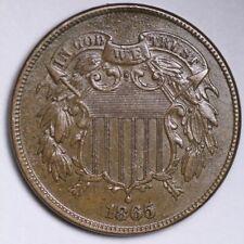 1865 Two Cent Piece CHOICE UNC FREE SHIPPING E196 AEJ