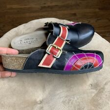 L'Artiste Valeria By Spring Step Black/Red/Purple Leather Shoes Sz 38 / 8